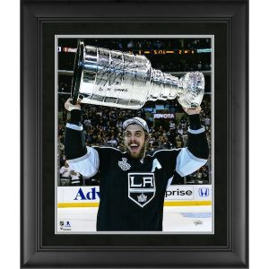 Autographed Los Angeles Kings Anze Kopitar Fanatics Authentic Framed 16″ x 20″ Raising Cup Photograph with 2x SC Champs Inscription