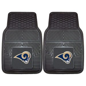 Classic Los Angeles Rams 27″ x 18″ 2-Pack Vinyl Car Mat Set