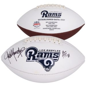"Fanatics Authentic Jack Youngblood Los Angeles Rams Autographed White Panel Football with ""HOF 01"" Inscription"