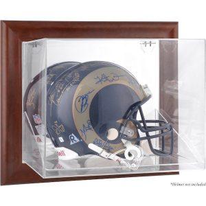 Fanatics Authentic St. Louis Rams Brown Framed Wall-Mountable Logo Helmet Case