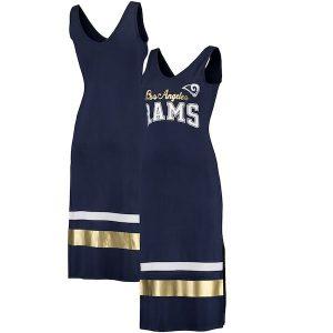G-III 4Her by Carl Banks Los Angeles Rams Women's Navy Sideline Dress