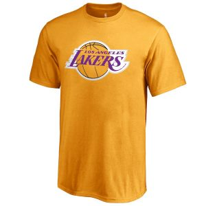 LeBron James Los Angeles Lakers Fanatics Branded Youth Backer Name & Number T-Shirt – Gold