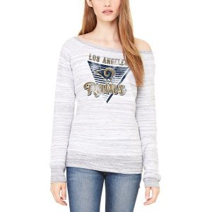 Let Loose by RNL Los Angeles Rams Women's Ash Eighty Something Pullover Sweatshirt