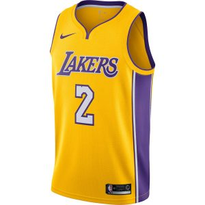 Lonzo Ball Los Angeles Lakers Nike Swingman Jersey Yellow – Icon Edition