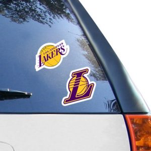 "Los Angeles Lakers 2-Pack 4"" x 4"" Die-Cut Decals"