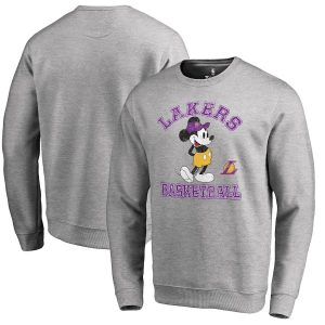 Los Angeles Lakers Fanatics Branded Disney Tradition Sweatshirt – Ash