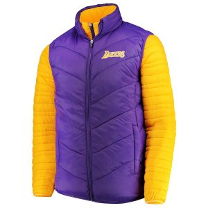 Los Angeles Lakers G-III Sports by Carl Banks Three & Out 3-in-1 System Full-Zip Vest & Jacket