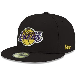 Los Angeles Lakers New Era Official Team Color 59FIFTY Fitted Hat – Black