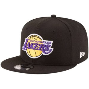 Los Angeles Lakers New Era Official Team Color 9FIFTY Adjustable Snapback Hat – Black