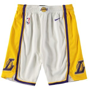 Los Angeles Lakers Nike Youth Swingman Association Performance Shorts – White