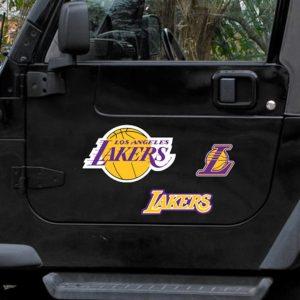 Los Angeles Lakers WinCraft 11″ x 11″ 3-Pack Vinyl Magnet Set