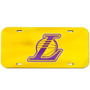 Los Angeles Lakers WinCraft Crystal Mirror License Plate