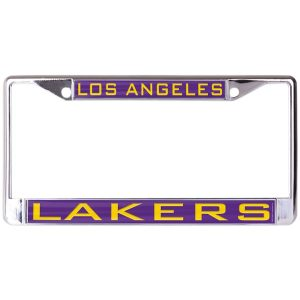 Los Angeles Lakers WinCraft Laser Inlaid Metal License Plate Frame