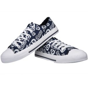 Los Angeles Rams Women's Repeat Print Low Top Sneakers
