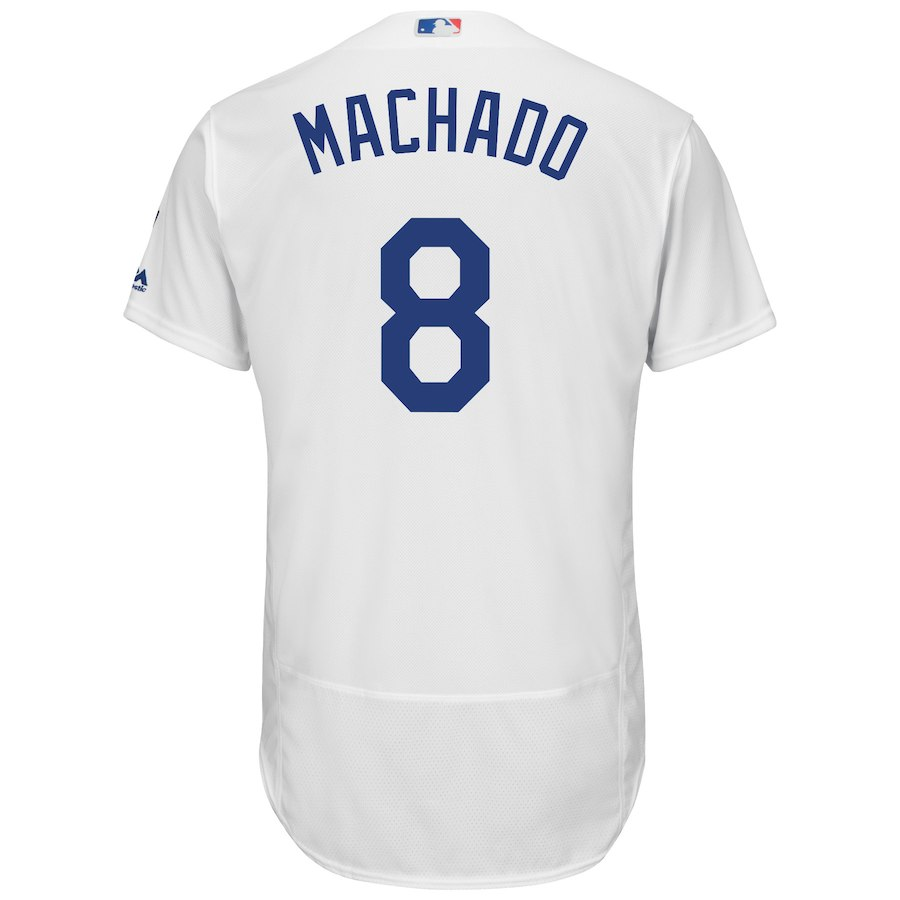 huge selection of 42b11 f6872 Manny Machado LA Dodgers Majestic Home Authentic Jersey – White