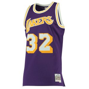 Magic Johnson Los Angeles Lakers Mitchell & Ness 1984-85 Hardwood Classics Swingman Jersey – Purple