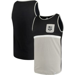 Men's Los Angeles Kings Fanatics Branded Black ColorBlock Pocket Tank Top