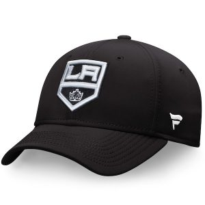 Men's Los Angeles Kings Fanatics Branded Black Elevated Core Speed Stretch Fit Flex Hat