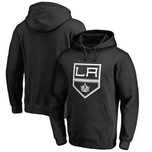 Men's Los Angeles Kings Fanatics Branded Black Primary Logo Pullover Hoodie