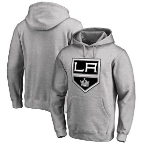 Men's Los Angeles Kings Fanatics Branded Gray Primary Logo Pullover Hoodie