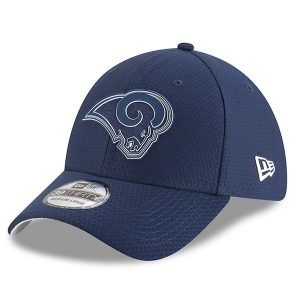 Mens New Era Los Angeles Rams Navy 2018 NFL Training Camp Primary 39THIRTY Flex Hat