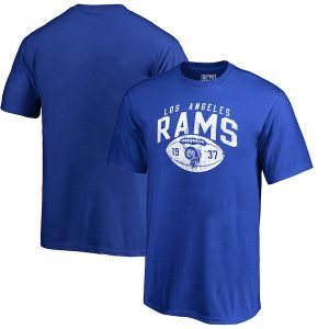 NFL Pro Line Los Angeles Rams Youth Royal Throwback Collection Coin Toss T-Shirt