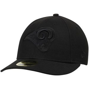 New Era Los Angeles Rams Black on Black Low Profile 59FIFTY Fitted Hat