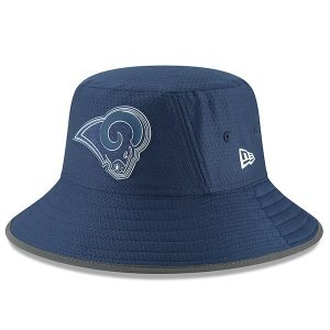 New Era Los Angeles Rams Navy 2018 Training Camp Primary Bucket Hat