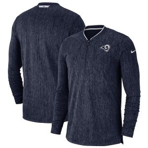 Nike Los Angeles Rams Navy Sideline Coaches Half-Zip Pullover Jacket