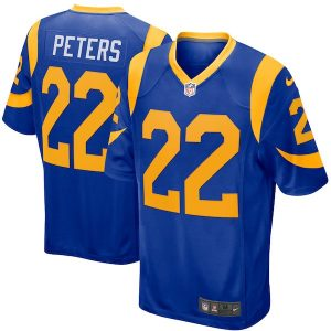 Nike Marcus Peters Los Angeles Rams Royal Game Jersey