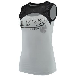 Women's Los Angeles Kings G-III 4Her by Carl Banks Silver Power Up! Tank Top