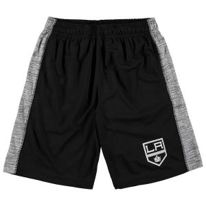 Youth Los Angeles Kings Fanatics Branded Black/Heathered Gray Rival Shorts