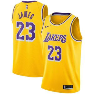 LeBron James Lakers Nike 2018/19 Swingman Jersey Gold – Icon Edition