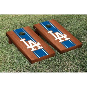Los Angeles Dodgers Rosewood Cornhole Game