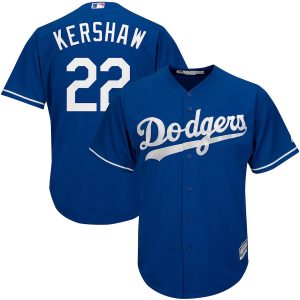 Men's Los Angeles Dodgers Clayton Kershaw Majestic Royal Alternate Cool Base Player Jersey