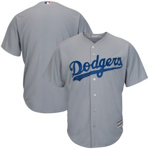 Men's Los Angeles Dodgers Majestic Gray Road Cool Base Jersey