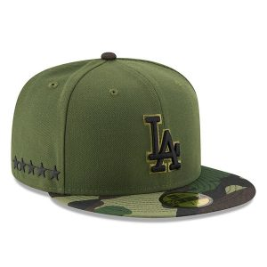 Men's Los Angeles Dodgers New Era Green 2017 Memorial Day 59FIFTY Fitted Hat