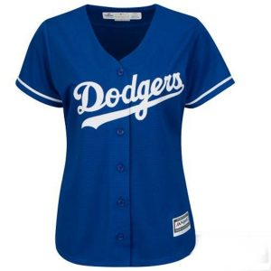 Women's Los Angeles Dodgers Majestic Royal Alternate Cool Base Jersey –