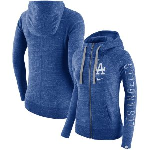 Women's Los Angeles Dodgers Nike Royal Vintage Full-Zip Hoodie